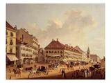 The Jagerzeile, Vienna, Austria, 1825 Giclee Print by Franz Scheyerer