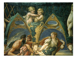 Suitors Chasing a Woman, Fresco, Diana and Actaeon Room (Inspired by Ovid's Metamorphoses) Giclee Print by Francesco Parmigianino
