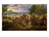 French Army Camped Between St Sebastien and Fontarabie, 1719 Giclee Print by Jean-Baptiste Martin