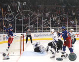 Jaromir Jagr/ Scott Gomez Dual Signed Celebrating Goal vs. Lightning Photo