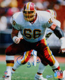 "Joe Jacoby White Jersey w/ ""3x Super Bowl Champs"" insc Autographed Photo (H Fotografía"