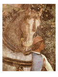 Horse and Groom, Fresco, Camera Degli Sposi (Detail) Giclee Print by Andrea Mantegna