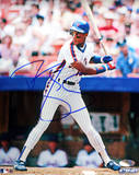Darryl Strawberry NY Mets Pinstripes Batting Autographed Photo (Hand Signed Collectable) Photographie