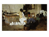 After the Bath - Maid Drying Woman Giclee Print by Giacomo Favretto