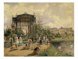 Municipal Park, Vienna, Austria, 1872 Watercolour Giclee Print by Franz Alt