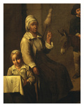 Woman with Distaff, from Scène De Paysans Ou Le Dénicheur D'Oiseau Giclee Print by Mathieu Lenain