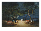 Camping at Night by the Nile, Her Majesty Empress Eugenie, 1826-1920 Giclee Print by Charles Theodore Frere