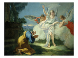 Abraham and the Three Angels Giclee Print by Domenico Fontebasso