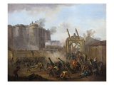 The Taking of the Bastille, July 14, 1789 Giclee Print by Jean Baptiste Lallemand