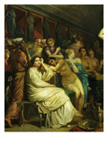 The Tepidarium 1853 Warm Room in Bath House Detail Giclee Print by Theodore Chasseriau
