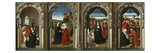The Annunciation, Visitation, Adoration of the Angels, and Adoration of the Magi, C. 1445 Giclee Print by Dieric Bouts