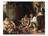 Femmes D'Alger Dans Leur Appartement (Women of Algiers in their Apartment) C. 1834 Reproduction procédé giclée par Eugene Delacroix