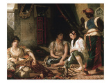 Femmes D'Alger Dans Leur Appartement (Women of Algiers in their Apartment) C. 1834 Giclee Print by Eugene Delacroix