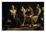 Famille De Paysans Dans Un Intérieur (Peasant Familyin an Interior) Giclee Print by Louis Lenain