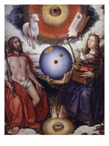 Christian Allegory, the Cosmos under the Eye and in the Hands of God in the Presence of Christ Giclee Print by Jan Provost
