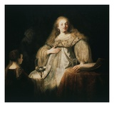 Judith at Banquet of Holofernes, 1634 Giclee Print by  Rembrandt van Rijn