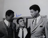 Muhammad Ali with Bill Russell and Kareem Abdul-Jabbar Black & White Horizontal Photo