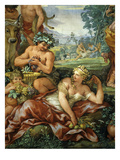 The Four Ages of Life Frescos, the Silver Age Premium Giclee Print by Pietro da Cortona