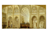 Interior of Toledo Cathedral, Spain, 1856 Giclee Print by Francisco Hernandez Y Tome