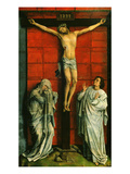 El Calvario Christ on the Cross with Mary and Saint John the Evangelist Giclee Print by Rogier van der Weyden