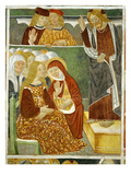 "Christ's Sermon to the Women, 15th Century Fresco, ""The Poor Man's Bible"" Giclee Print by Francesco & Sperindio Cagnola"