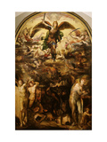 The Fall of the Rebel Angels Giclée-tryk af Domenico Beccafumi