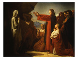 Resurrection of Lazarus Premium Giclee Print by Leon Bonnat
