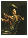Detail of Young Boy from the Calling of Saint Matthew, 1599-1600 Giclee Print by Michelangelo Merisi da Caravaggio