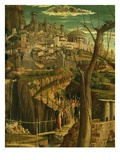 City of Jerusalem, from Christ's Agony in the Garden, 1459-60 (Detail) Giclee Print by Andrea Mantegna