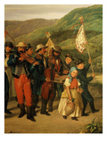 Musicians in Procession, from Grape Harvest Festival at Vacz, Hungary, 1859 (Detail) Giclee Print by Agost-Elek Canzi