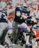 "Ed Jones Blue Jersey Action w/"" Too Tall"" Insc Autographed Photo (Hand Signed Collectable) Photo"