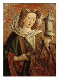Mary Magdalene, Wooden Panel of Altarpiece Giclee Print by Friedrich Pacher