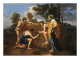 Les Bergers D'Arcadie (Shepherds of Arcadia), also Called Et in Arcadia Ego Giclee Print by Nicolas Poussin