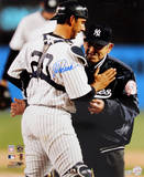 Jorge Posada with Yogi Berra Vertical Photo