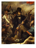Liberty Leading the People July 28, 1830 Detail of Crowd Giclee Print by Eugene Delacroix