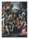 The Way to Calvary, Christ Falls While Carrying Cross, 1517 Reproduction procédé giclée par  Raphael