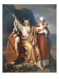 Moses in Raphidim Where a Spring Emerged, 1856 Giclee Print by Joaquin oe Joaquim Ramirez