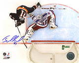 Miroslav Satan Shootout Goal vs Rangers Autographed Photo (Hand Signed Collectable) Photo