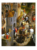 Ascent to Calvary, Carrying the Cross, Passion of Christ, Detail Giclee Print by Hans Memling