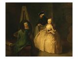 Lo Studio Del Pittore (The Artist's Studio) Giclee Print by Pietro Longhi
