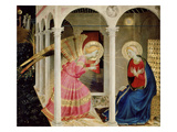 The Annunciation Altarpiece with Predella with Life and Death of Virgin Mary Giclee Print by Fra Angelico