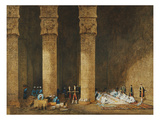Meal in an Egyptian Temple, Her Majesty Empress Eugenie, 1826-1920 Giclee Print by Charles Theodore Frere