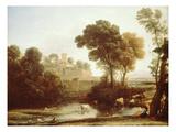 Italian Landscape, 1640 Premium Giclee Print by Claude Lorrain