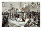 French Captain Louis Binger's Entry into Kang, Ivory Coast, 1888/89 Expedition Giclee Print by Louis Tinayre