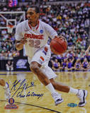 "Kris Joseph Syracuse White Jersey Drive ""Go Orange"" Insc. Autographed Photo (H& Signed Collectable) Photographie"