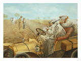 Lost During an Automobile Rally, 1911 Giclee Print by Jean-Antoine Berthier