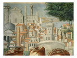 Rome, Italy, from Fresco Cycle Depicting the Life of St Augustine, 1465, Detail Giclée-tryk af Benozzo Gozzoli
