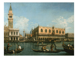 View of Basin of St Marks Square, Venice Giclee Print by Giovanni Antonio Canaletto