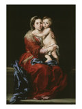 Virgin of Rosary, 1650-55 Giclee Print by Bartolome Esteban Murillo