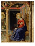 Virgin Mary, from the Annunciation, C. 1440, Altarpiece from Convent of Montecarlo (Detail) Giclee Print by  Fra Angelico